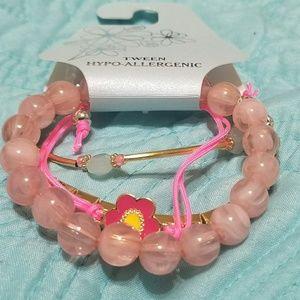 TWEEN Pink Bracelet Set